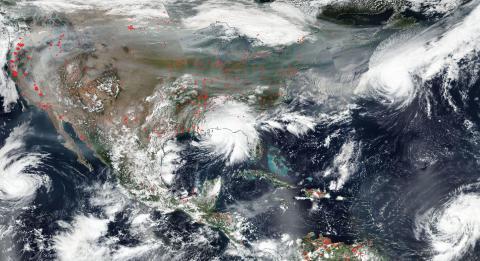 Imagen de satélite Estados Unidos