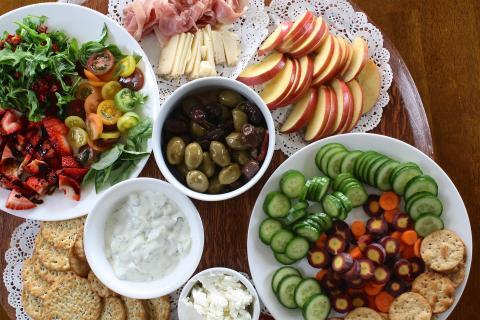 Platos de comida variada