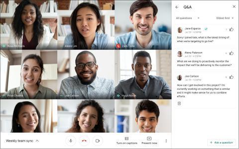 Preguntas y respuestas en Google Meet