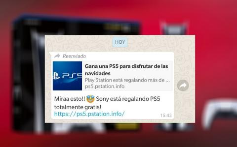 Estafas WhatsApp PlayStation 5