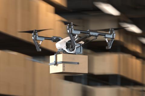drone paquete