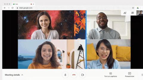 Google Meet fondos personalizados
