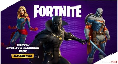 Fortnite Marvel Royalty and Warriors Pack