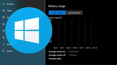 Función gráfica batería Windows 10