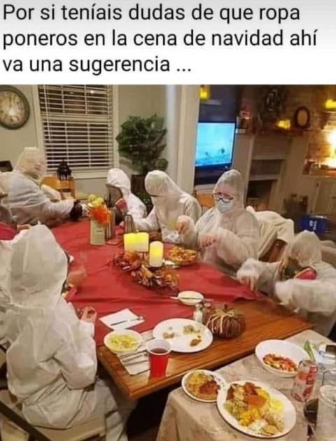 Cena de Navidad en tiempos de coronavirus