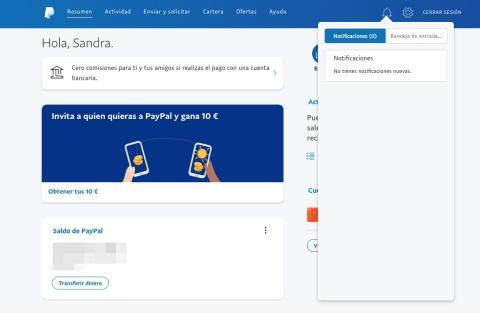Notificaciones de PayPal