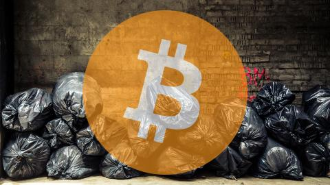 Bitcoin en la basura