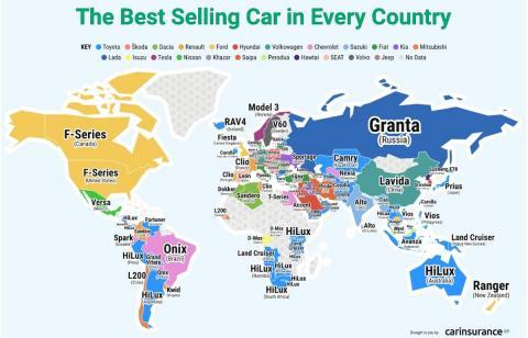 coches mas populares mundo