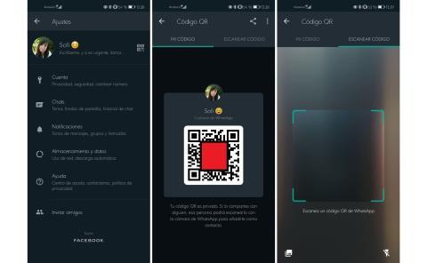 Cómo añadir un nuevo contacto de WhatsApp utilizando un código QR