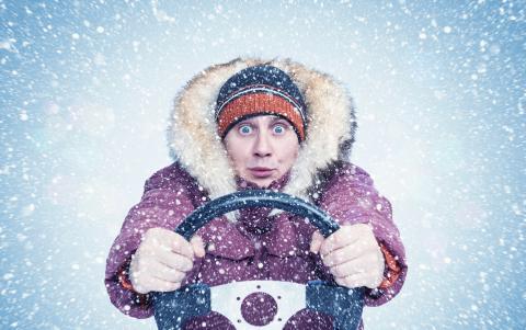 Conducir con abrigo