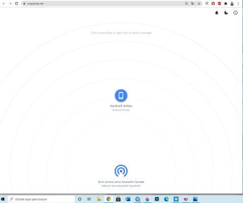 Snapdrop para enviar archivos entre dispositivos