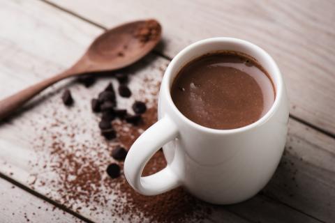 Cacao, chocolate, taza