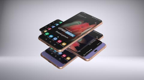 Renders de LetsgoDigital del Galaxy A82