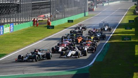 Salida GP Monza Italia 2021
