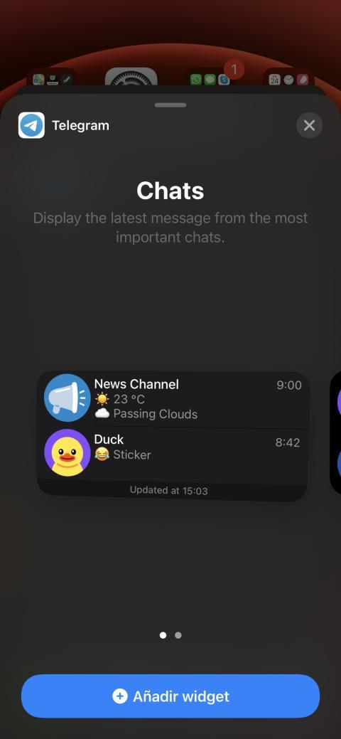 Widget de Telegram