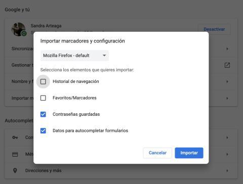 Importar contraseñas a Chrome