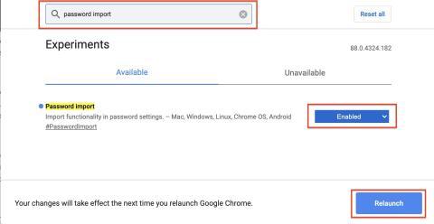 Importar contraseñas en Google Chrome