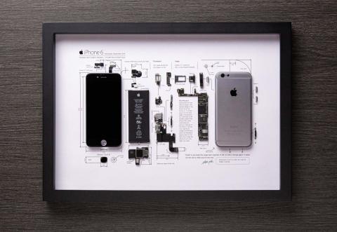 Cuadro con iPhone 6