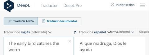 Traducción DeepL