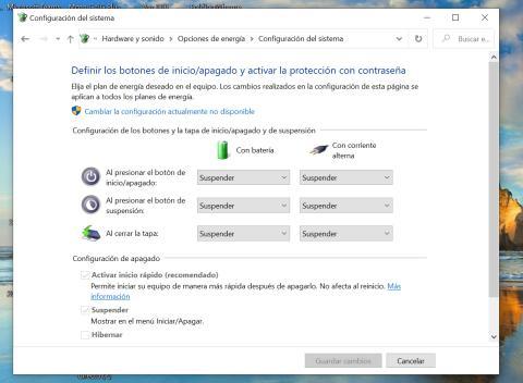 Windows inicio rápido