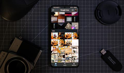 Photo showing the Google Photos interface