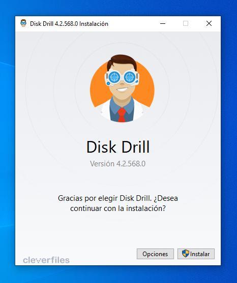 Instalar Disk Drill Windows 10