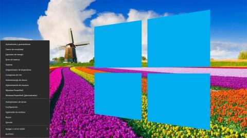Menú inicio oculto Windows 10