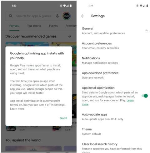 Optimización de la instalación de aplicaciones de Google