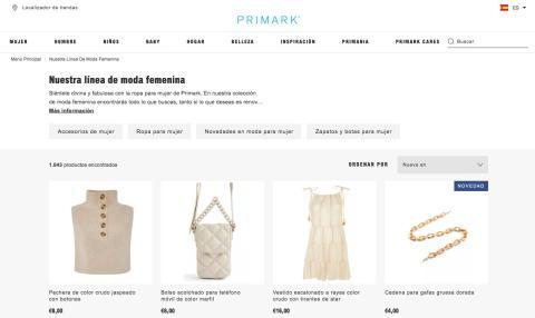 Tienda online de Primark