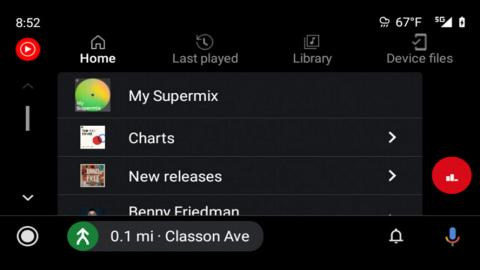 Nueva interfaz YouTube Music en Android Auto