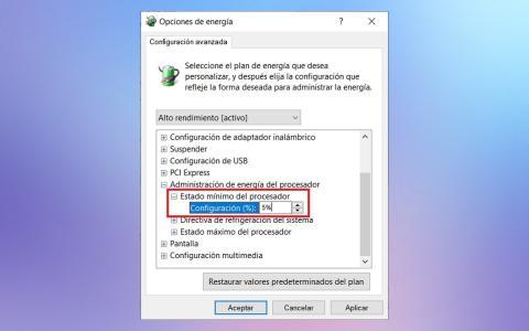 Administración energía