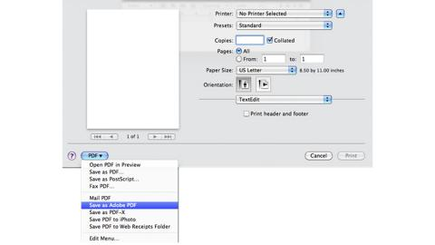 Save PDF on Mac