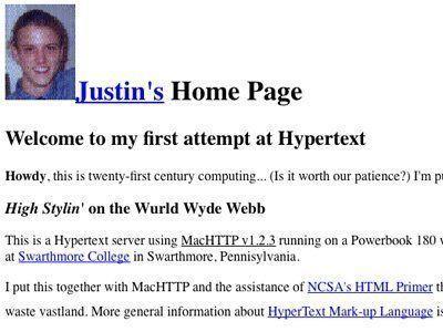 Imagen del primer blog de la historia