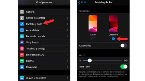 Modo oscuro WhatsApp iPhone