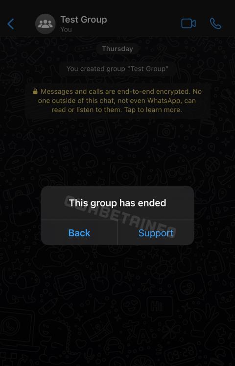Grupo cerrado por WhatsApp