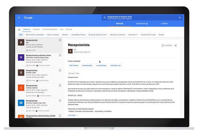 Buscar trabajo google