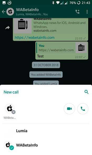 llamadas grupo whatsappWABetaInfo