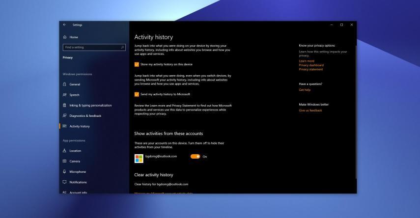Windows 10 actividad