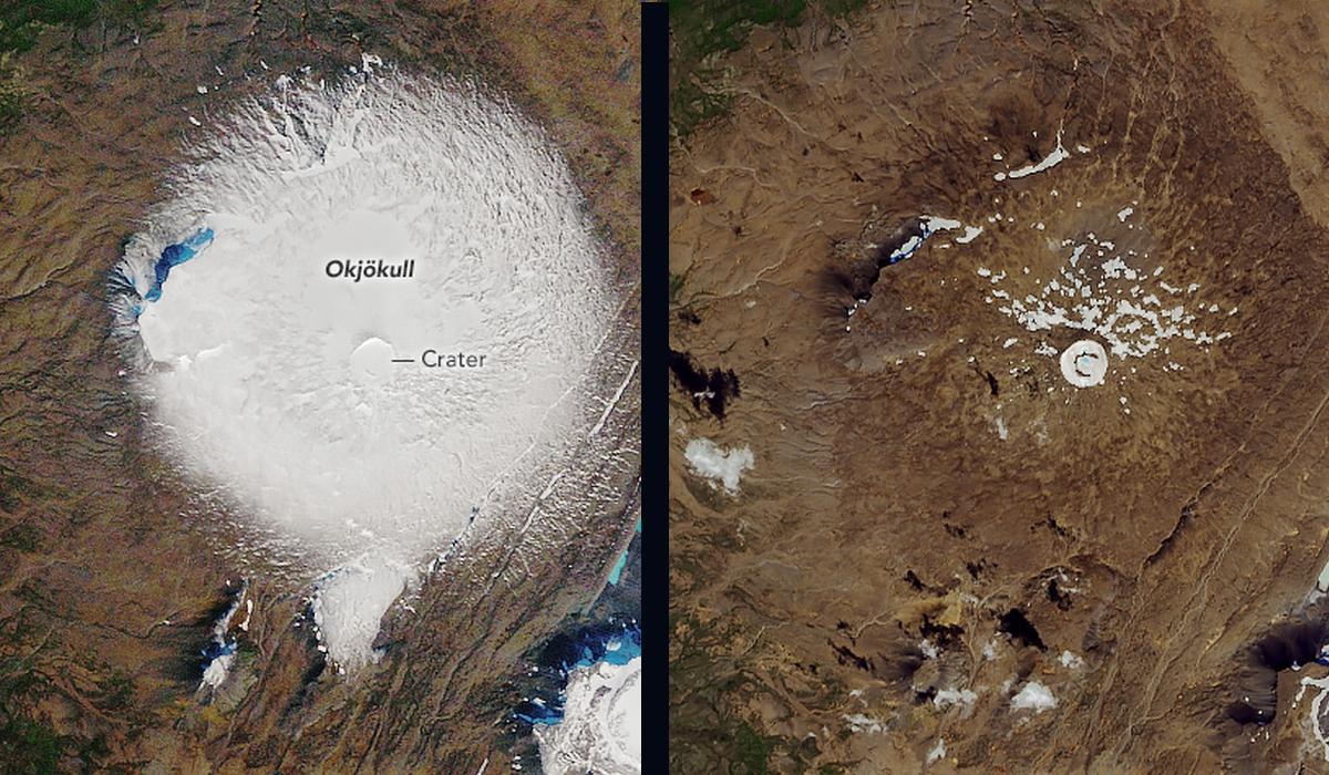 Así muere un glaciar, visto desde el espacio