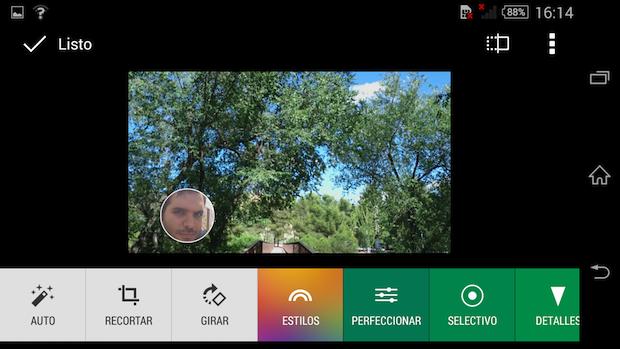 Modos fotografía Xperia Z3