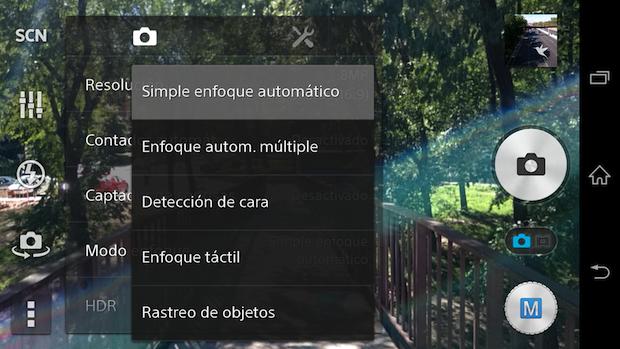 Configuración cámara Xperia Z3
