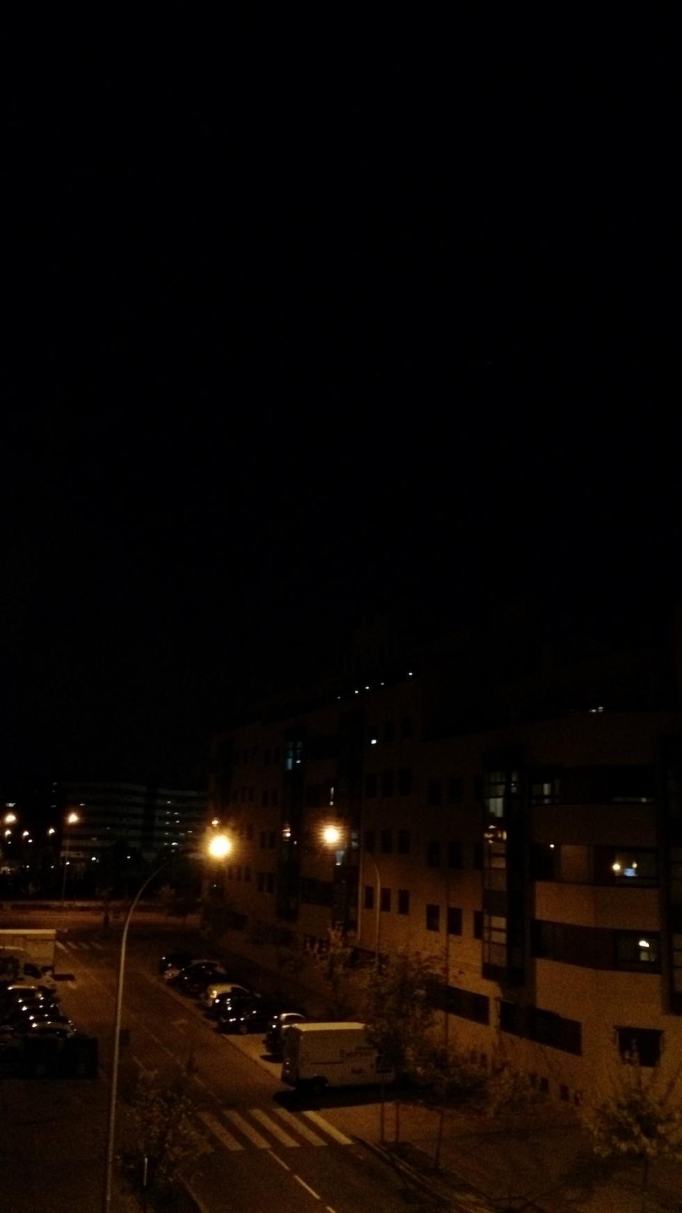 Fotografía nocturna vertical