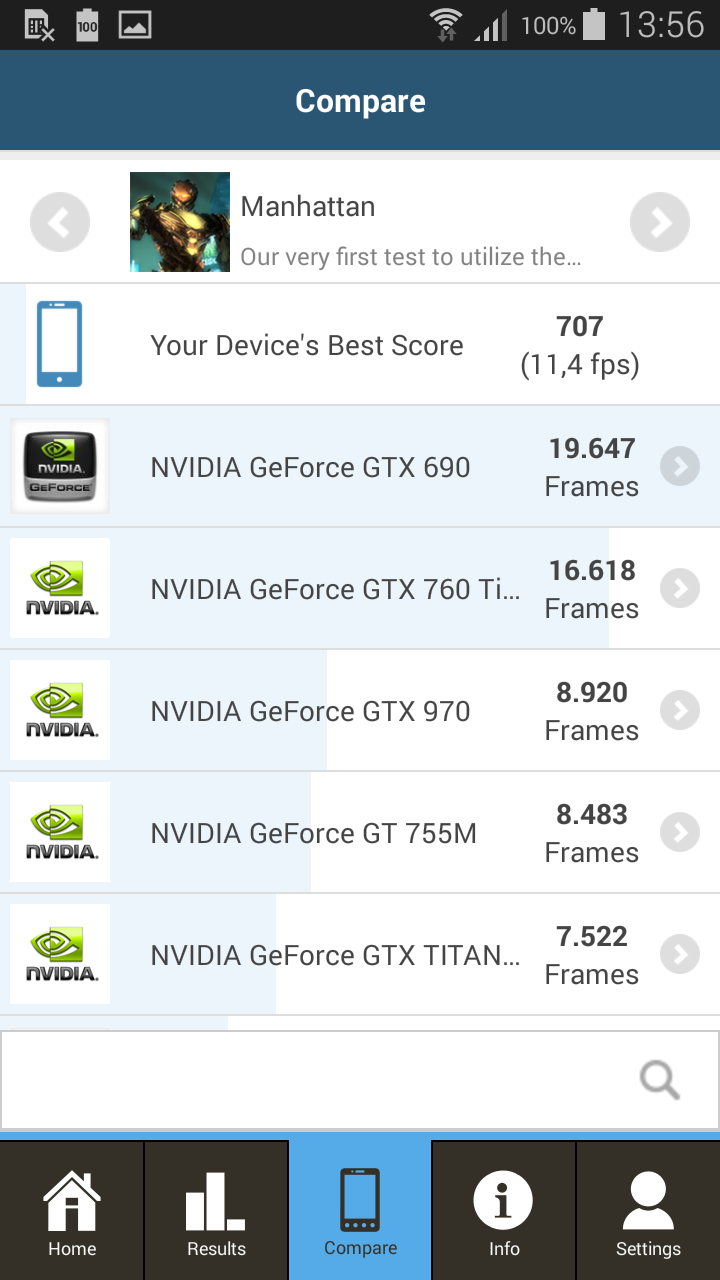 Samsung Galaxy Alpha - GFXBench 3.0.16