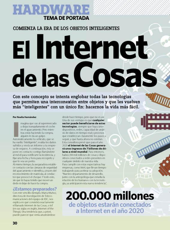 "Reportaje ""Internet de las cosas"" - Nº 141 PCI"