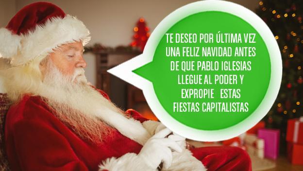 Mensaje de felicitación de Navidad para WhatsApp sobre Pablo Iglesias