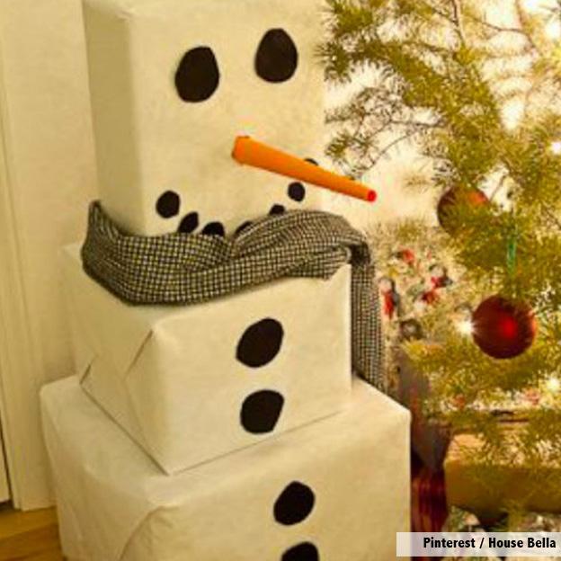 Muñeco de Navidad con tus cajas