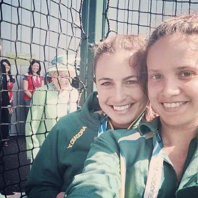 Selfie con la Reina de Inglaterra