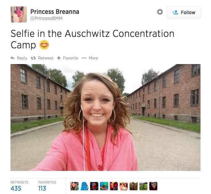 Selfie en Auschwitz