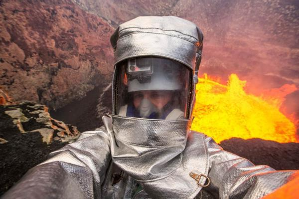 Selfie en un Volcán