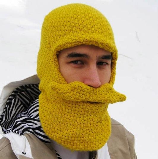 gorro de lana con barba para el frio